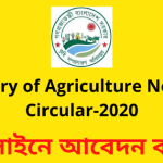 Ministry of Agriculture New Job Circular-2020